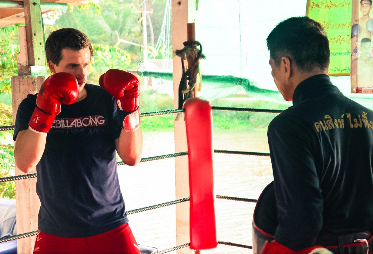Muay Thai Boxing in Singburi Thailand