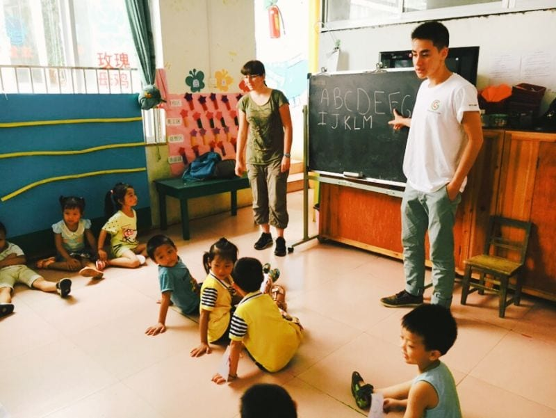 Volunteer teaching Guilin