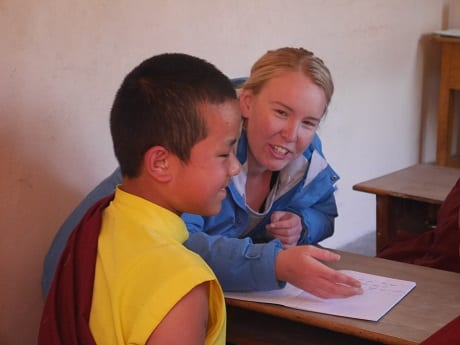Teaching at Buddhist Monastery in Sikkim India